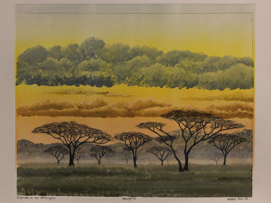 Isobel-Smith-Sunrise-on-the-Serengeti-Monotype