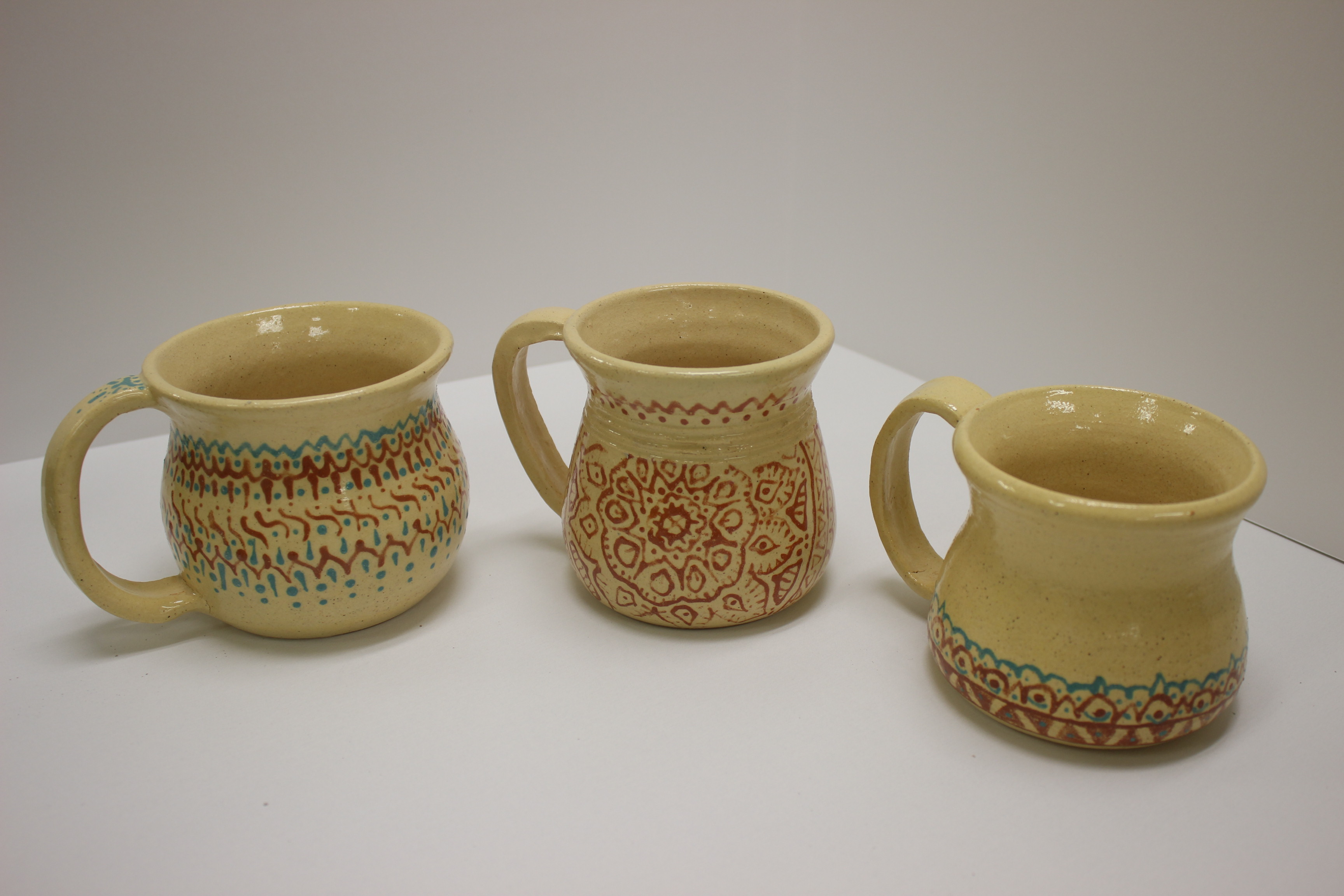 Set of 3 Tea Mugs
