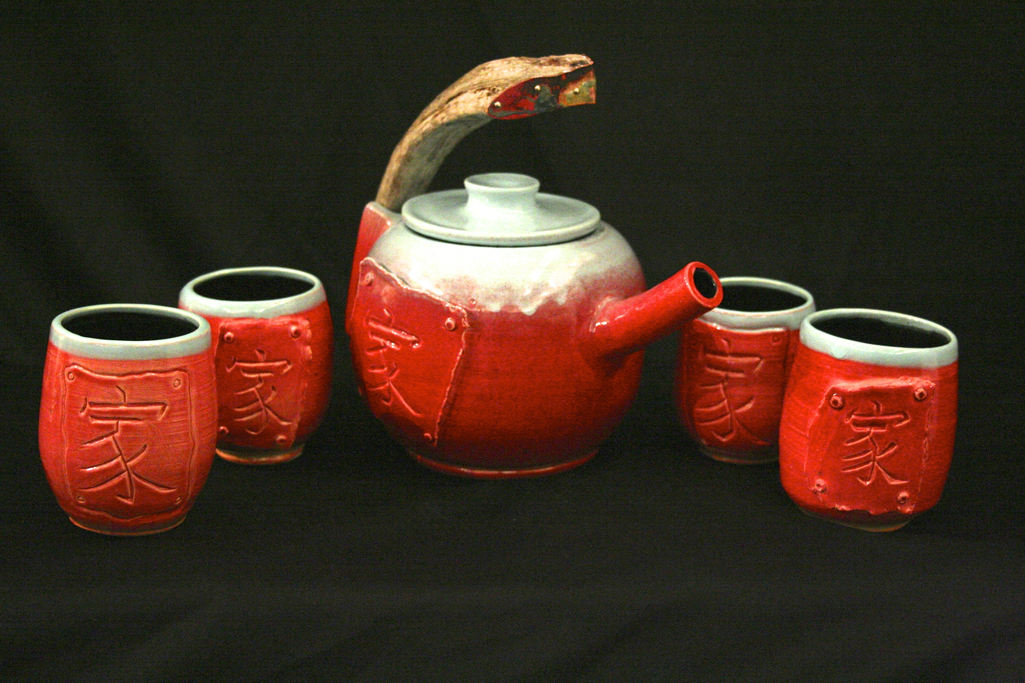 Moose Horn Tea Set