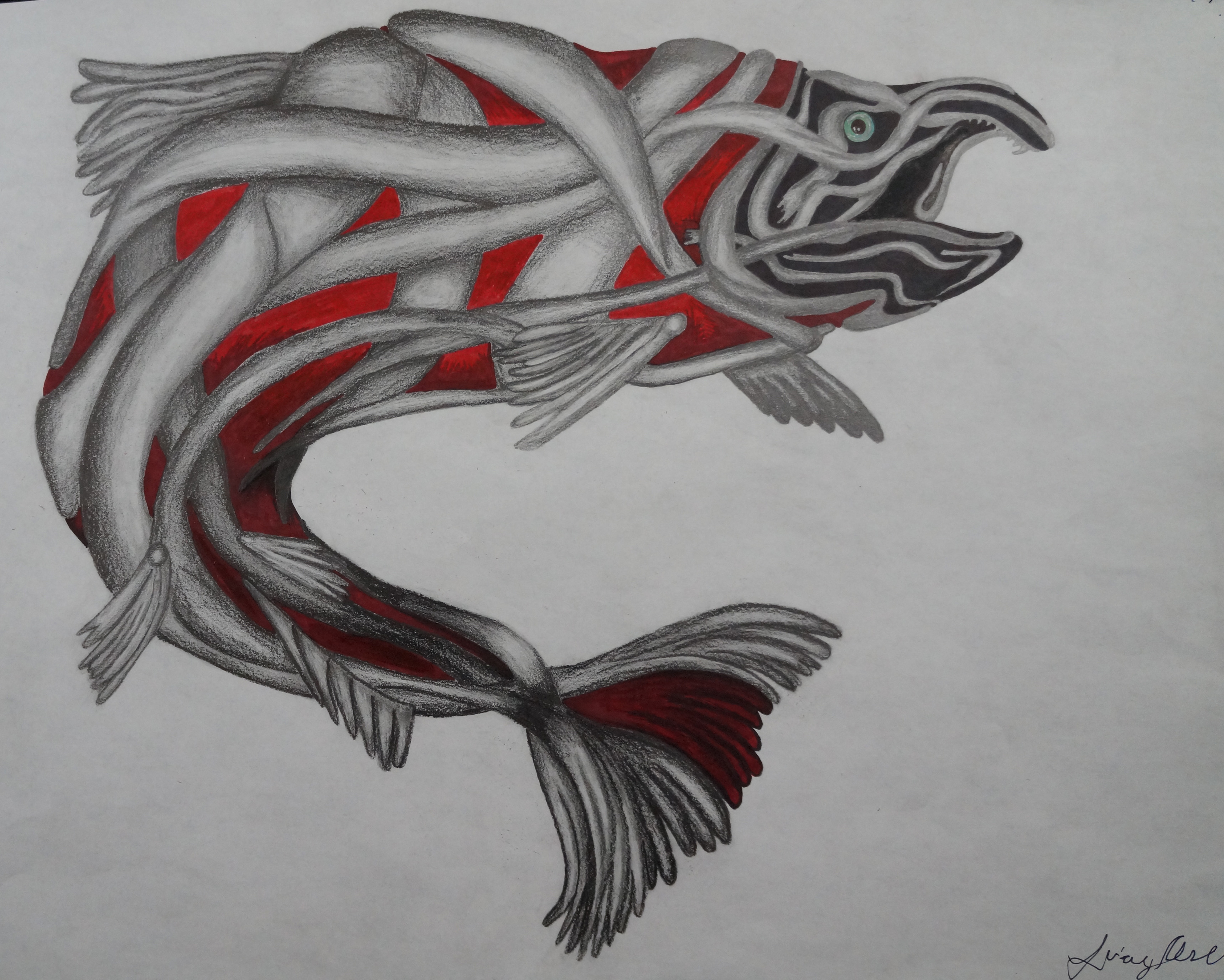 T'a' (Salmon in Tlingit)